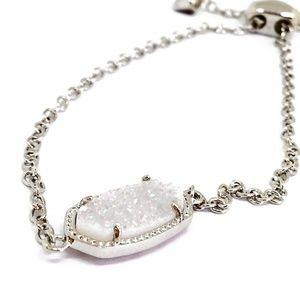 NEW Kendra Scott Elaina SILVER Iridescent Bracelet